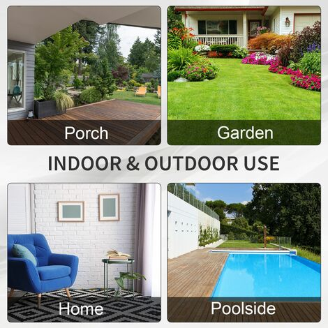 Outsunny 3 Seater Rattan Sofa Wicker Outdoor Furniture Chair