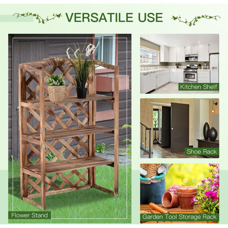3 Tier Wooden Flower Plant Stand