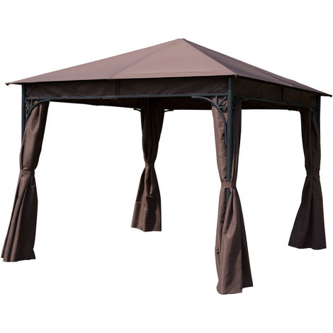 Outsunny 3 x 3m Garden Metal Gazebo Marquee Party Tent Canopy Pavilion