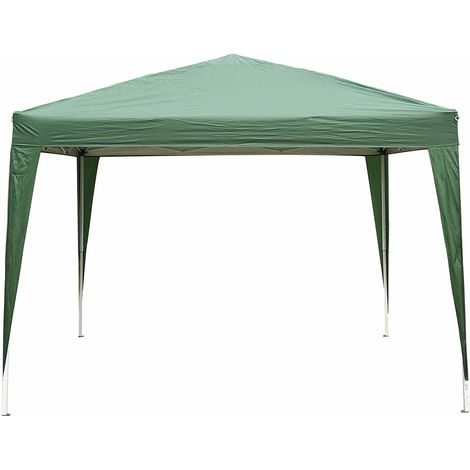 Outsunny 3 x 3M Outdoor Garden Heavy Duty Pop Up Gazebo Marquee Party Tent Wedding Canopy (Green) + Carrying Case