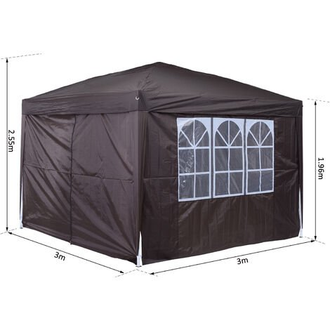 Outsunny 3 x 3m Pop Up Gazebo Marquee + Carry Bag