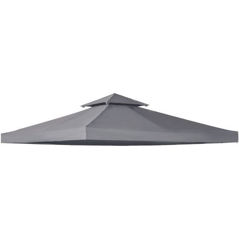 """main image of """"Outsunny 3(m) 2 Tier Garden Gazebo Top Cover Replacement Canopy Roof Deep Grey"""""""