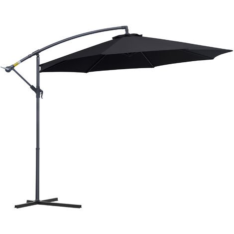 Outsunny 3m Banana Parasol Sunshade Garden Umbrella