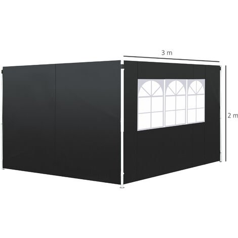 Outsunny 3m Gazebo Replaceable Side Panel Wall With Window