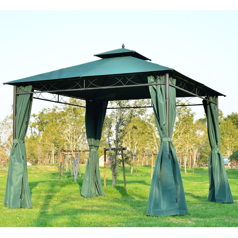 3 x 4m Patio Garden Metal Gazebo Marquee Party Tent Canopy Shelter Pavilion