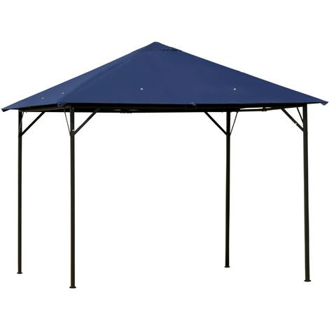 Outsunny 3x3m Gazebo Outdoor Canopy Party Tent Patio Shelter Outdoor Dark Blue
