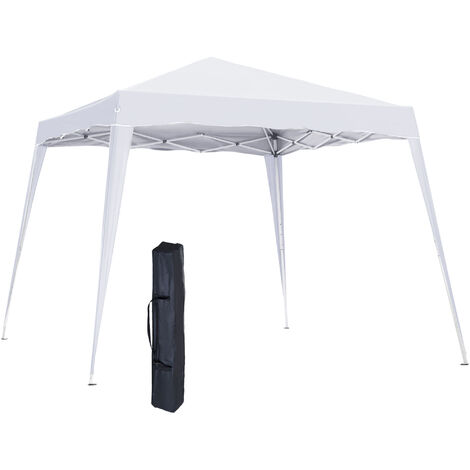 Outsunny 3x3m Pop-up Tent Gazebo Outdoor Awning Marquee Party Shelter Sun Shade - White