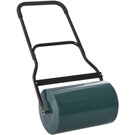 Outsunny 40L Lawn Roller Grass Ground Garden Push/Tow Landscaping Erasing Sod