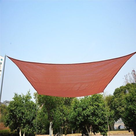 Outsunny 4m X 3m Rectangle Sun Shade Sail Canopy Patio Garden Awning Cover Free Ropes P 385786 1767726 1 Jpg