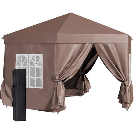 Outsunny 4x4m Garden Gazebo Outdoor w/ Overhead Canopy Weather-Resistant