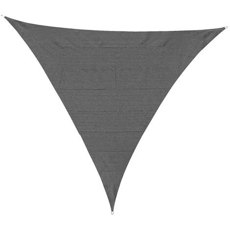 Outsunny 5x5m Triangle Sun Shade Sail Outdoor UV Protection Canopy w/ Rings Grey