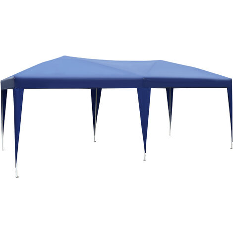 """main image of """"Outsunny 6 X 3M Waterproof UV Resistant Pop Up Gazebo w/ Carrying Bag (Blue)"""""""