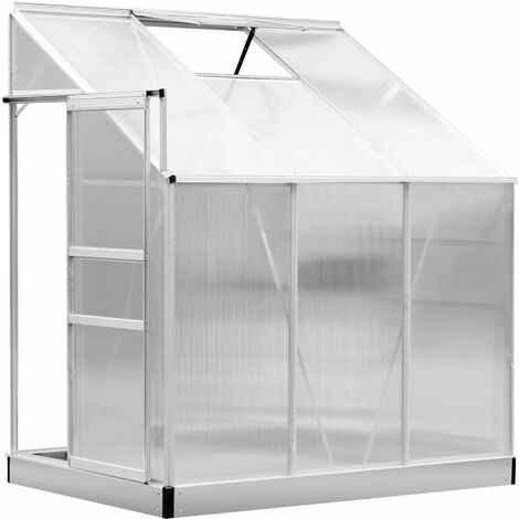 Outsunny 6 x 4ft Aluminum Lean Garden Greenhouse Enclosure with Screen