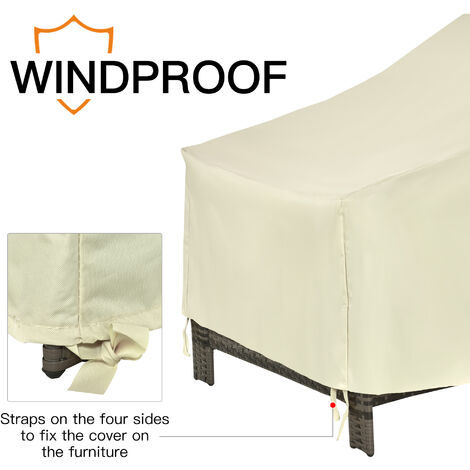 Outsunny 600D Oxford Cloth Furniture Cover Single Chair Garden Patio Outdoor Protector Waterproof 68Lx87Wx44-77Hcm