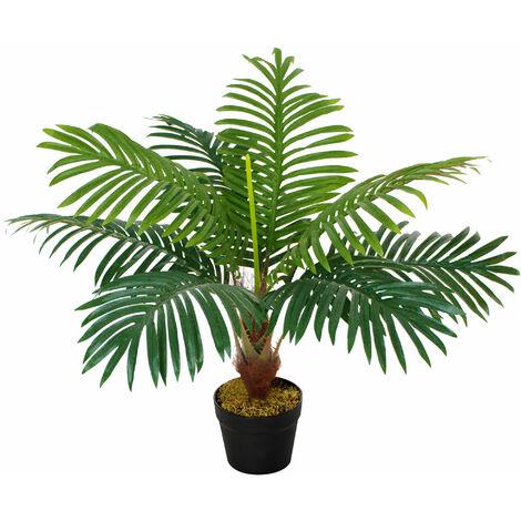 Outsunny 60cm Artificial Palm Tree Decorative Plant w/ Pot Indoor Outdoor Décor