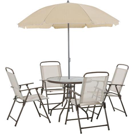 Outsunny 6pcs Garden Furniture Bistro Set Texteline