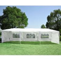 Outsunny 9m x 3m Garden Heavy Duty Gazebo Marquee Party Tent Wedding Canopy Outdoor
