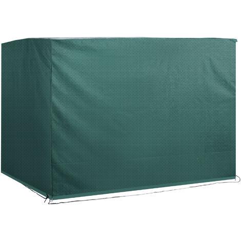 Outsunny® Abdeckplane Schutzhülle Gartenmöbel Abdeckhaube Wasserdicht UV-Schutz PE Grün 215 x 155 x 150 cm