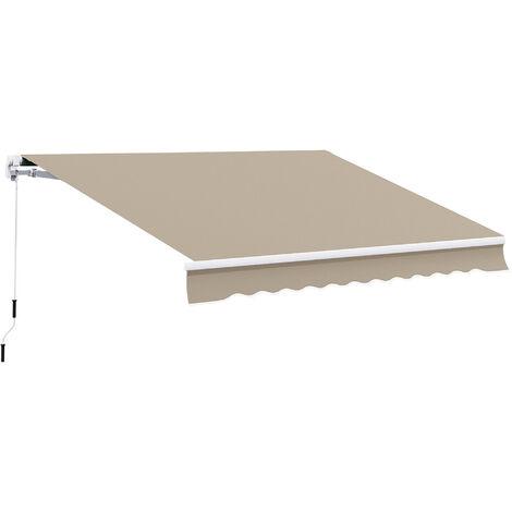 Outsunny® Alu Gelenkarm-Markise 4m x 3m Sonnenschutz beige
