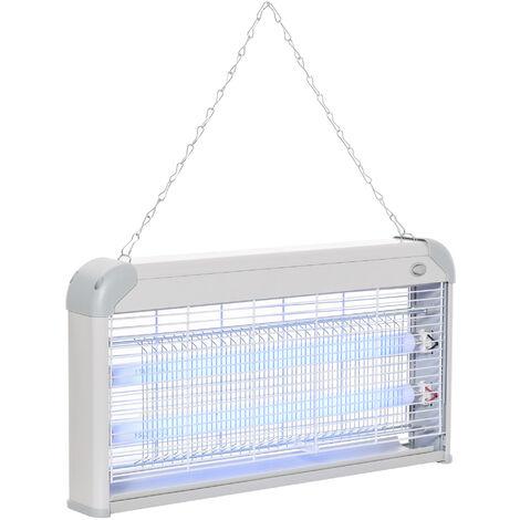 """main image of """"Outsunny Antimosquitos Eléctrico Lámpara Anti-mosquitos Eléctrica Profesional 15W de Cada Tubo - Gris"""""""