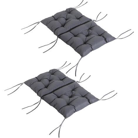 6er Set Niedriglehner Auflagen Kissen Niederlehner Stuhlauflagen Stapelstuhl