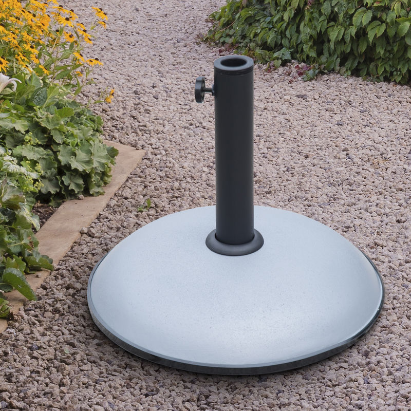 Supporti Per Ombrelloni Da Giardino.Outsunny Base Supporto Per Ombrellone Da Giardino In Cemento 20kg 45x36cm