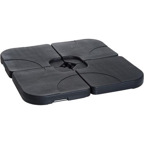 Outsunny® Behälter für Bodenkreuz befüllbar Sonnenschirmständer