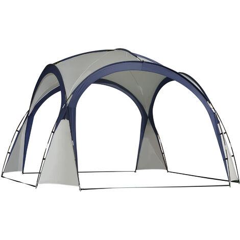 Outsunny Carpa Tienda de Fiesta Gazebo 3.5x3.5m Toldo Abierto para Eventos Camping