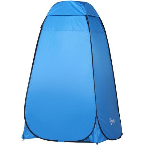 Outsunny Tienda de Campa/ña 100x100x185cm Instant/ánea Tipo Carpa Ducha Cambiador WC Impermeable para Camping