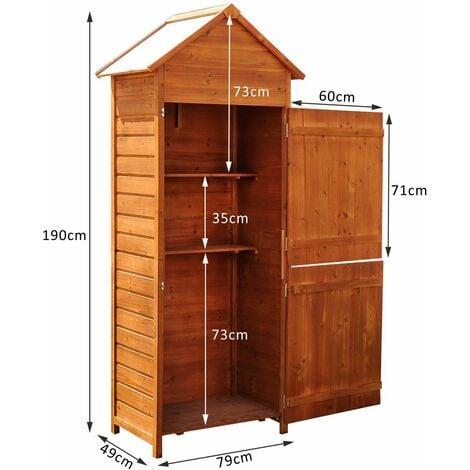 armario de jardín de madera