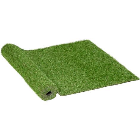 Outsunny Césped Artificial 3x1m Alfombra o Estera de Hierba Sintética para Jardín Terraza - Verde