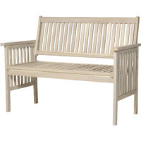 Outsunny Classic Two Seater Wood Garden Bench Outdoor Patio Furniture Grey