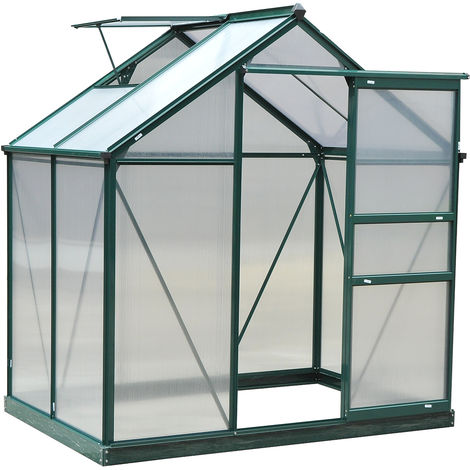 """main image of """"Outsunny Clear Polycarbonate Greenhouse Large w/ Slide Door"""""""