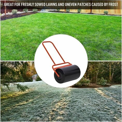 """main image of """"Outsunny Combination Push/Tow Lawn Roller 38L Sand 62kg Water Garden Equipment"""""""