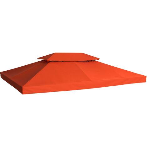 Outsunny Cubierta Superior para Toldo de Repuesto Transpirable con 8 Agujeros 3x4m