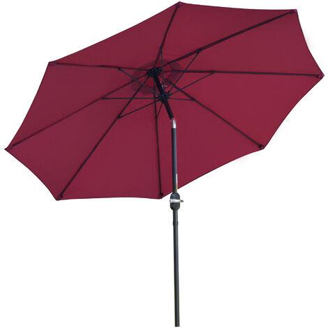 Outsunny D2.6m Patio Umbrella Canopy Parasol Tilt Sun Shade Aluminium
