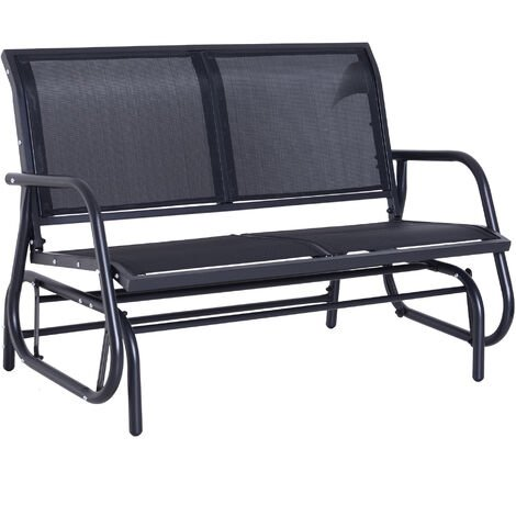 Outsunny Double Swing Chair Outdoor Garden Patio Glider Bench - Grey