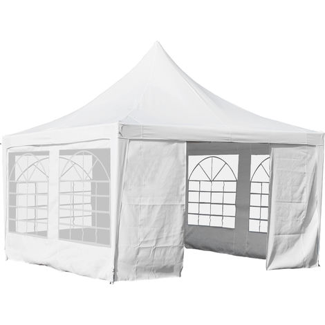 Outsunny Enclosed Gazebo Party Tent Outdoor w/ Steel Frame Windows 3.6x3.6m