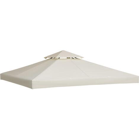 Outsunny® Ersatzdach Dach für Metall-Gartenpavillon Pavillon Partyzelt Gartenzelt 3x3/3x4m