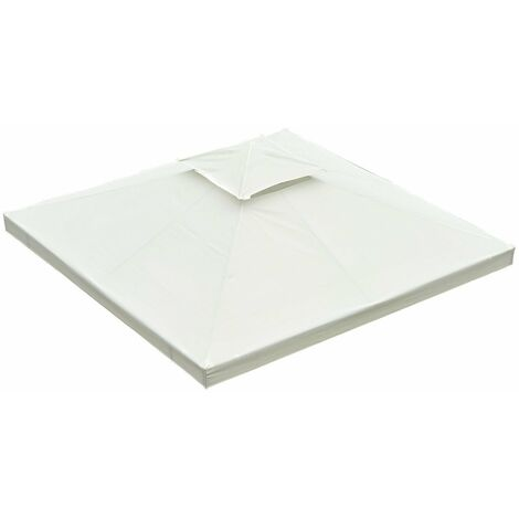 Outsunny® Ersatzdach für Metall Gartenpavillon 3x4m Creme
