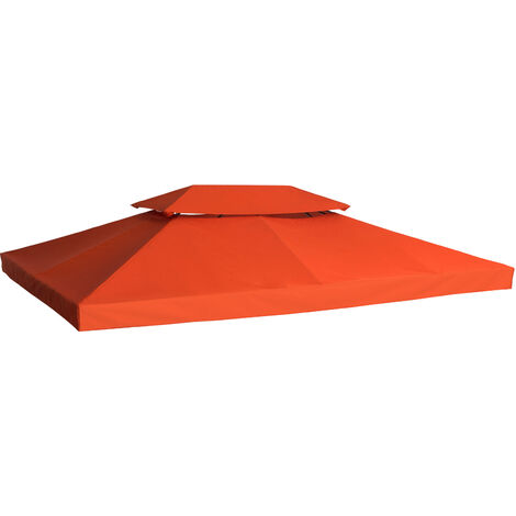 Outsunny® Ersatzdach für Metall-Gartenpavillon 3x4m terra