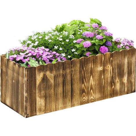 """main image of """"Outsunny Fioriera Box Rettangolare per Piante in Legno di Abete, 80x33x30cm"""""""