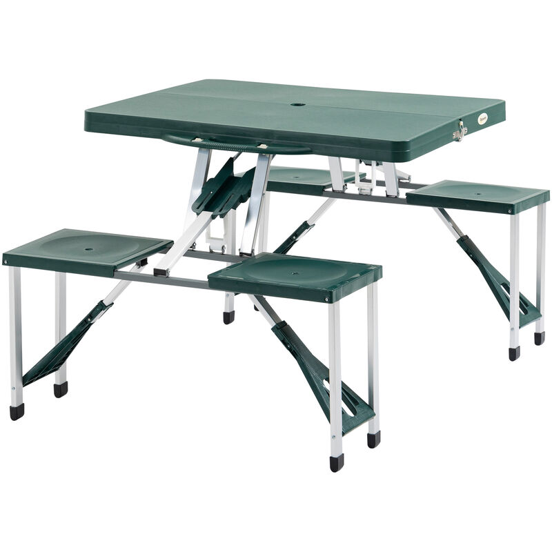 Outsunny Folding Portable Picnic Table Chair Set Camping Hiking Bbq Party
