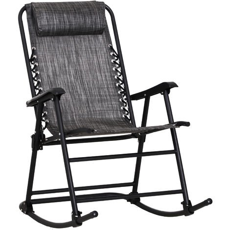 Outsunny Folding Rocking Chair Zero Gravity Outdoor W