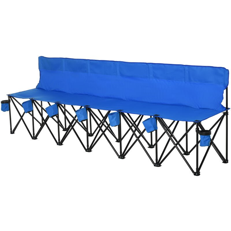 Outsunny Football 6 Seater Folding Bench Camping Portable