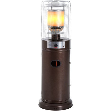 Outsunny Freestanding Patio Heater Adjustable Heat 5-11kW w/ Safety Switch