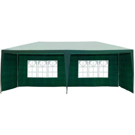 """main image of """"Outsunny Garden Gazebo Marquee Party Tent Wedding Canopy Outdoor (Green, 6m x 3m)"""""""