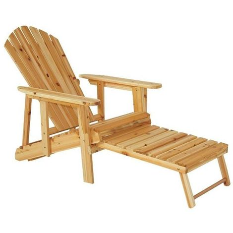 Strange Outsunny Garden Outdoor Adirondack Chair With Pull Out Cjindustries Chair Design For Home Cjindustriesco