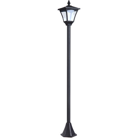 Outsunny® Gartenlaterne Solar Laterne 10 Lumen Schwarz H120cm