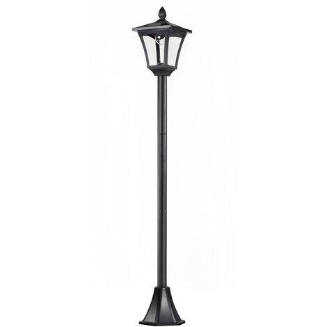 "main image of ""Outsunny® Gartenlaterne Solar Laterne 40 Lumen Schwarz H160cm - schwarz"""
